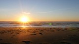 Sunset at beach, Lincoln City, Oregon