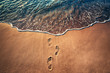 Quadro Footsteps on the beach