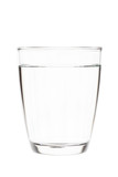 Water in clear glass isolated on white background with clipping