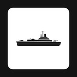 Military navy ship icon in simple style on a white background vector illustration