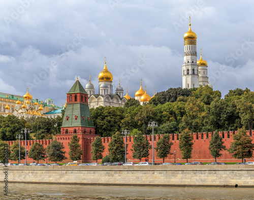 Zdjęcia Towers and temples of the Moscow Kremlin, view from the embankment of the Moskva