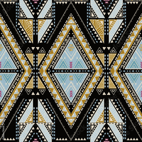 Ethnic geometrical pattern, tribal seamless, aztec pattern, mexican print - 120663301