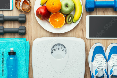 Poster Sports and weight loss