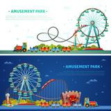 Amusement Park Horizontal Banners