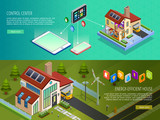 Smart Home Control 2 Isometric Banners