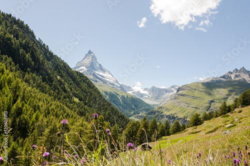 Poster Zermatt, Bergdorf, Alpen, Schweizer Berge, Wallis, Findeln, Findelschlucht, Weil