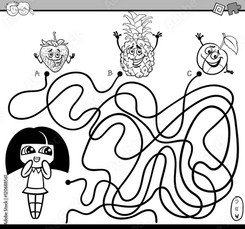 path maze activity coloring book
