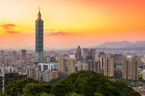 Poster Taipei, Taiwan Skyline