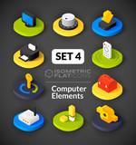 Fototapety Isometric flat icons set 4