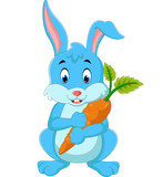 Cartoon happy rabbit