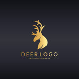 Deer logo. Easy to edit, change size, color and text.