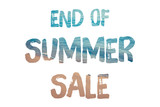 End of summer sale word concept