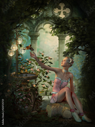 Deurstickers Retro Sweet Serenity, 3d CG