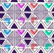 Materiał do szycia Triangle geo pattern design - seamless background