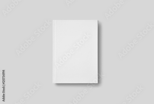 Photorealistic Book Mockup on light grey background Poster