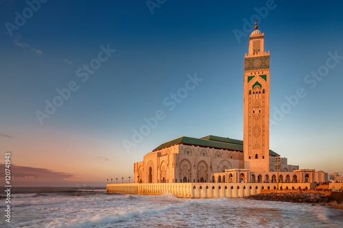 Casablanca mosque of Hassan 2 Poster