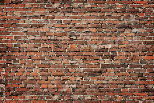 Spoed canvasdoek 2cm dik Baksteen muur Brick wall background
