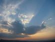 beautiful sunrise sky with clouds - 120759333