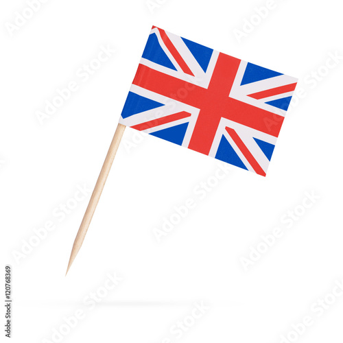 Miniature Flag Great Britain. Isolated on white background