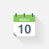 10 march calendar icon