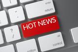 Hot News - Red Key. 3D Illustration.