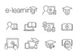 e-learning line icons