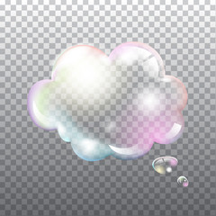 Abstract transparent soap speech bubble