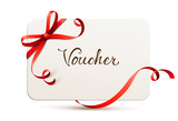 card with bow - voucher - 120789905