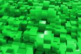 Sfondo con città di cubi verdi - green boxes city