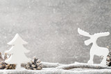 Christmas decoration over grunge background/vintage, christmas c