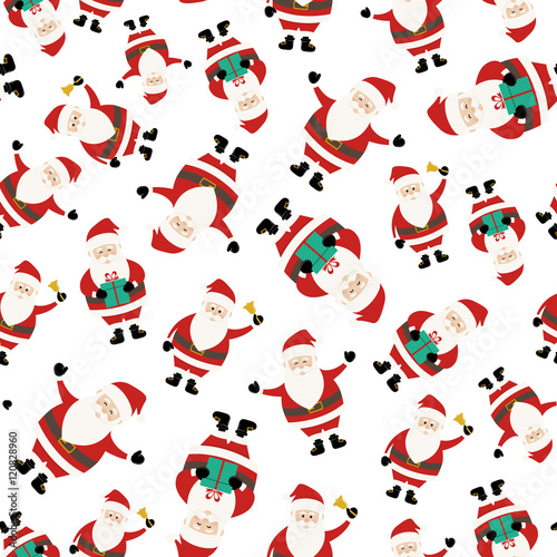 Materiał do szycia Santa Claus Seemless Pattern
