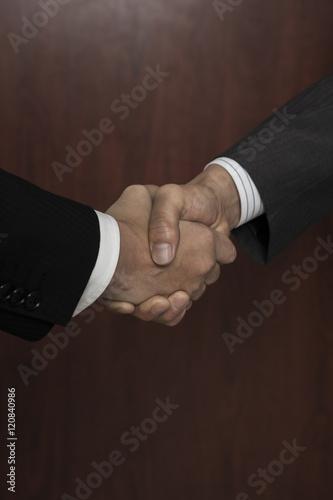 Poster 握手するビジネスマンの手