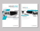 Annual report brochure flyer design template. Company profile