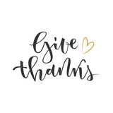 Give thanks greeting - 120847719