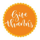 Give thanks greeting - 120847968