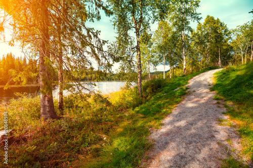 Poster Mountain lake in autumn. Norway