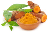 Turmeric with henna leaves - 120854784