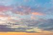 Real background of majestic sunrise sky