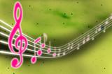 Muziek noten in 3D