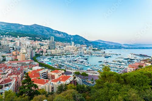 Aluminium Cityscape of La Condamine and Port Hercule, Monaco-Ville, The Kingdom of Monaco. Cote d'Azur