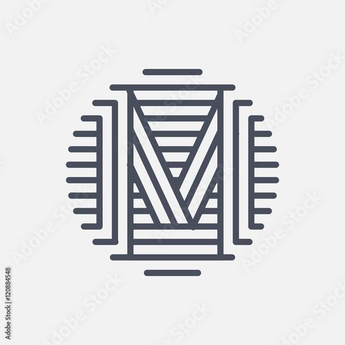 Letter M Logo Monogram Creative Line Art Design Eps10 Vector