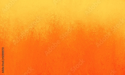 bright orange background with yellow border