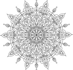Vector mandala illustration for coloring books