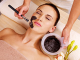 woman having beauty treatments  in the spa salon