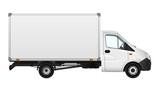 Fototapety Cargo van vector illustration on white. City commercial minibus