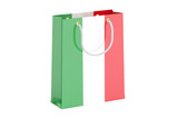 Shopping bag with Italian flag, 3D rendering