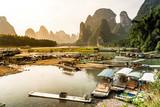 Traditionelle Schifffahrt auf dem Lijiang, Guilin, China