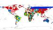 国旗の世界地図