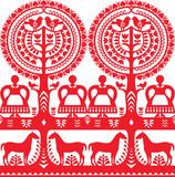 Seamless Polish folk art pattern Wycinanki Kurpiowskie - Kurpie Papercuts - 120936322