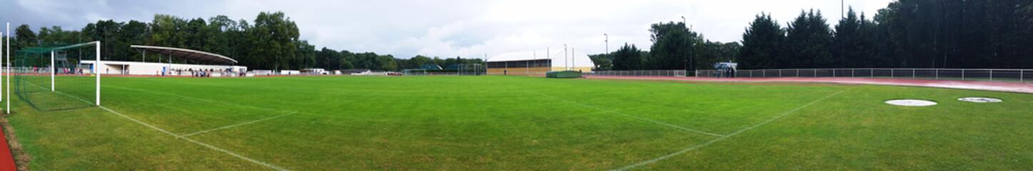 Terrain de football en herbe